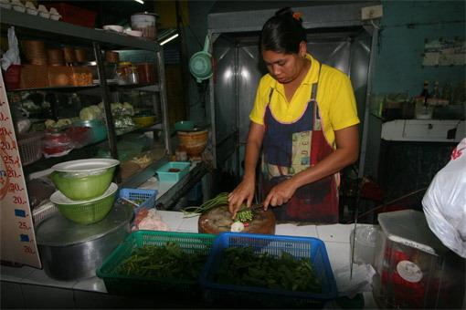 Burmese restaurant in Chiang Mai, Thailand