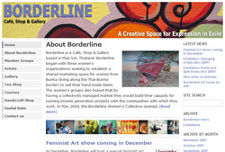 Borderline Café, Shop & Gallery website