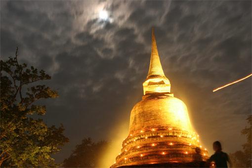 Loi Krathong Festival at Sukhothai, Thailand