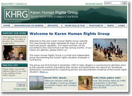 Karen Human Rights Website design