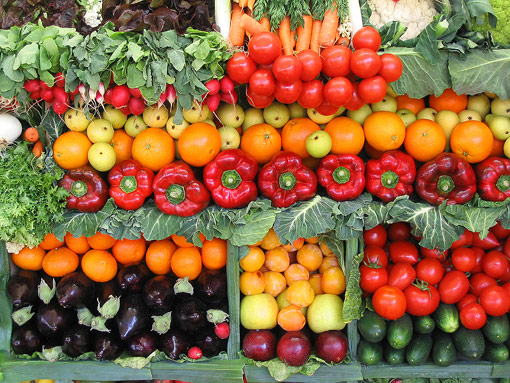 Vegetarianism - Fruit and vegetables
