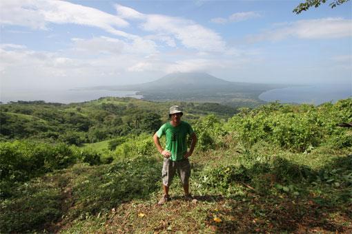 Tom standing on Maderas volcano, Isla de Ometepe