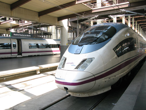 Ave Train, Atocha Station, Madrid, Spain