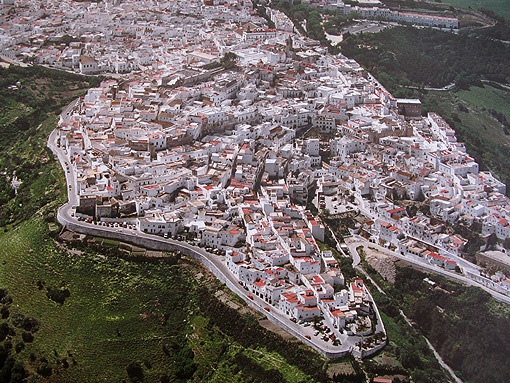 Vejer De La Frontera, Spain: Aerial photo