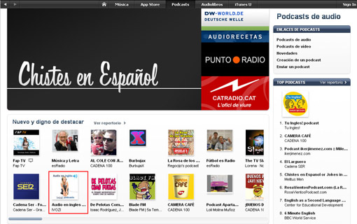 itunes podcast ingles